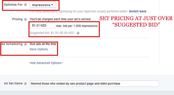adjust your remarketing bid to be slightly larger than suggested bid