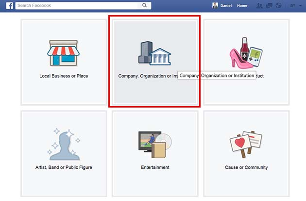 Set up the details of your facebook business page