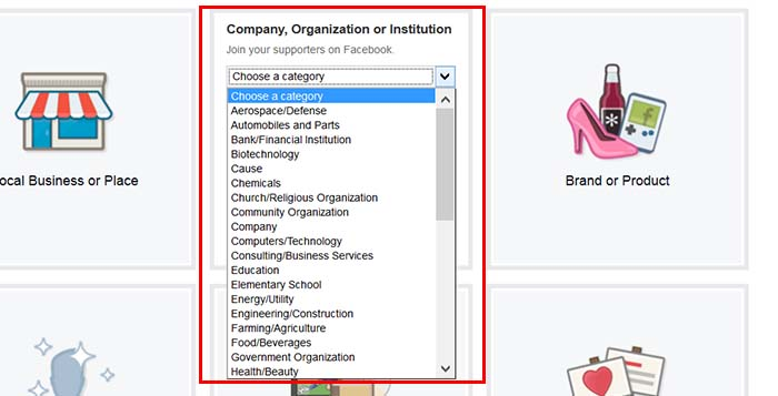 Be sure to select the correct category of facebook business page, so facebook can recommend the right traffic to you