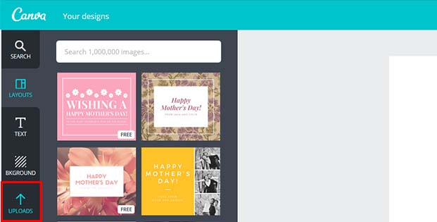 Upload the images your made for your remarketing campaign swipe file earlier