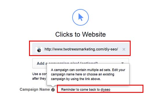 Give your remarketing campaign a name to remember it by