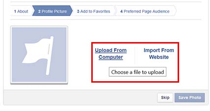 Add an image to your facebook business page to look professional