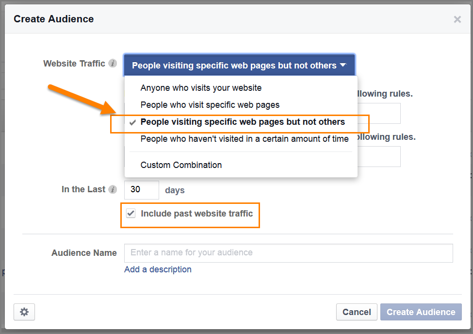 Create your facebook custom audience