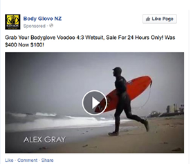 behavioural retargeting campaign on facebook
